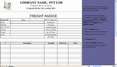 Transport Invoice Freight Invoice Template Invoice Manager For Excel