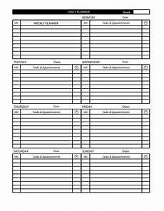 Daily Task Calendar Template Daily Task Calendar Template Daily Calendar Printable 2020