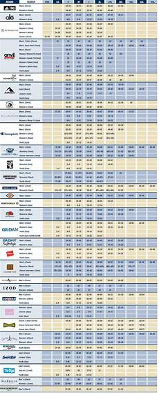 Connected Apparel Size Chart Size Chart Apparel Choice