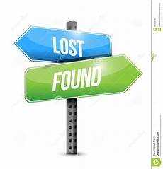 Lost And Found Sign Lost And Found Road Sign Illustration Design Stock