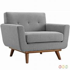 engage contemporary 5pc button tufted fabric sectional