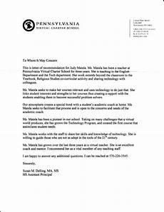 Sample Letter Of Recommendation For Elementary Principal Sample Letter To Principal From Student Warning Letter To