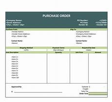 Purchase Order Format In Excel 43 Free Purchase Order Templates In Word Excel Pdf