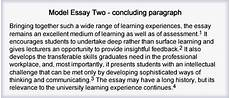Example Of A Conclusion Paragraph For An Essay The Little Blue Writing Book Essays