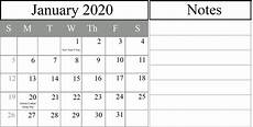 2020 calendar doc free january 2020 printable calendar in pdf excel amp word
