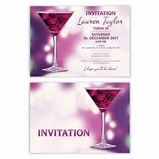 Cocktail Party Invitation Birthday Invitation Card Cocktail Party