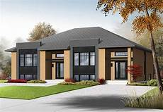 sleek modern multi family house plan 22330dr