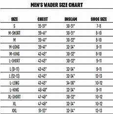 Chest Wader Size Chart Crosswater Wader Redington
