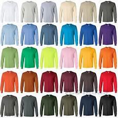 Gildan Shirt Color Chart Gildan Ultra Cotton Long Sleeve T Shirt Cotton Tee Size S