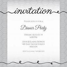 Sample Invitation For Dinner Ribbon Writing Dinner Party Invitation Template Free