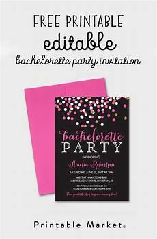 Free Editable Invitation Templates Free Editable Bachelorette Party Invitation Gray