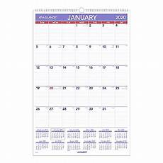 at a glance calendar 2020 at a glance monthly wall calendar 20 x 30 january to