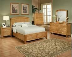 Oak Bedroom Furniture Sets Bedroom Set In Light Oak Finish Firefly County By Ayca Ay