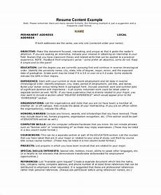 Management Objectives For Resume Free 40 Sample Objectives In Pdf Ms Word