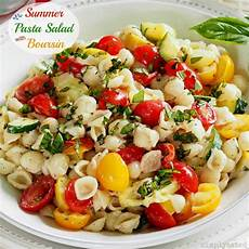 Salad With Pasta Summer Pasta Salad With Boursin Simply Sated
