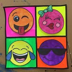 Easy Emoji Art Pop Art Inspired Emoji Art Project For 3rd 5th Grade