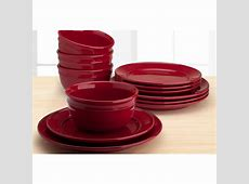 Mainstays Amelia 12 Piece Solid Color Dinnerware Set