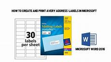 Address Labels Avery How To Create And Print Avery Address Labels In Microsoft