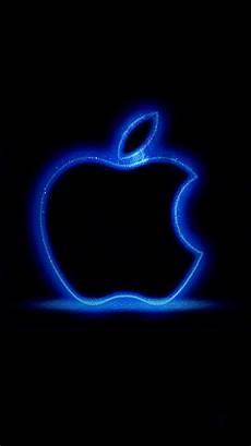 broken blue iphone wallpaper apple logo glowing blue wallpaper in 2019 apple