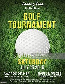 Golf Outing Flyers Golf Tournament Invitation Flyer With Grass And Ball