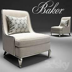 Overstuffed Sofa 3d Image by Baker Empress Chair No 6709c Barbara Barry 3d Models