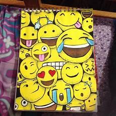 Easy Emoji Art Emoji Painting Emoji Art Emoji Drawings Art Supplies