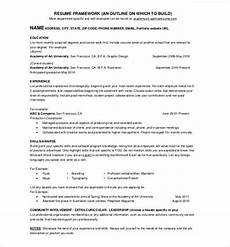 One Page Resumes 41 One Page Resume Templates Free Samples Examples