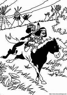 ausmalbilder yakari bild yakari pferde
