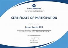Free Certificates Of Participation Free Program Participation Certificate Template In Psd Ms