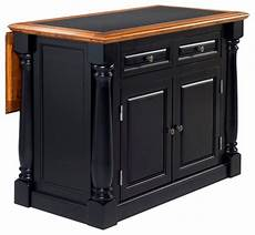 black distressed kitchen island inverness black and distressed oak island with granite top