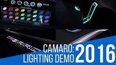 2016 Camaro Interior Spectrum Lighting 2016 Chevrolet Camaro Spectrum Lighting Demo Youtube