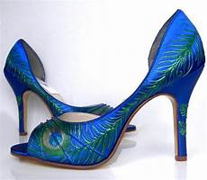 Designer Shoes With Feathers Peacock Theme Wedding Eight Perfect Peacock Bridal Shoes