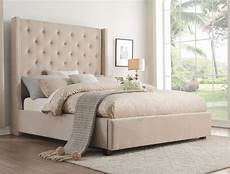 fairborn beige cal king upholstered platform bed from