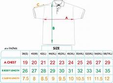 Us Polo T Shirts India Size Chart Sizing Charts Md Stylus Sdn Bhd