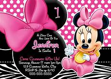 Printable Minnie Mouse Invitations Free Free Personalized Minnie Mouse First Birthday Invitations