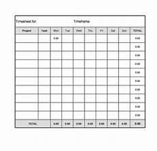 Standard Time Sheet 40 Free Timesheet Templates In Excel ᐅ Templatelab