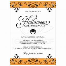 Sample Halloween Invitations Halloween Costume Party Invitation With Ornate Black And