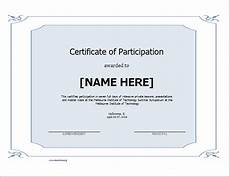 Sample Certificate Of Participation Certificate Of Participation Template For Word Document Hub