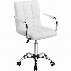 Warmiehomy Office Chair Swivel Faux Leather Armchair Height Adjustable by Office Chair White Faux Leather Swivel Computer Desk Chair