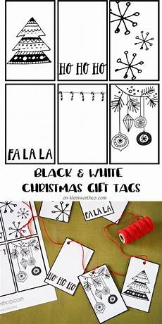 Christmas Labels Black And White Black White Free Printable Gift Tags Amp Guy Gift Idea