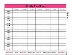 Weekly Planning Sheets Copeland Unit Website Pink Crossfit