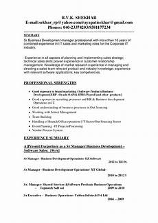 Business Development Manager Resume Updated Business Development Manager Resume 1