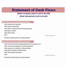Statement Of Cash Flows Template Free 13 Cash Flow Analysis Samples In Pdf Ms Word Excel