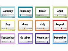 Printable Month Free Printable Months Of The Year Flashcards
