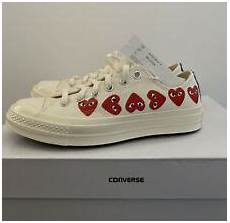 Comme Des Garcons Shoes Size Chart Comme Des Garcons X Converse Men S Chuck Multi Heart Shoes