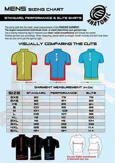 Anatomic Chart Mens Standard Performance Elite Shirt Sizing Chart