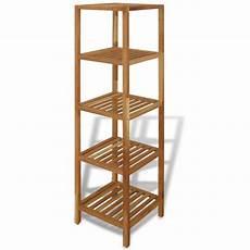 scaffale per bagno vidaxl scaffale da bagno in legno di noce 36x36x145 cm