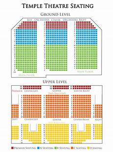 Temple Buell Seating Chart Temple Theatre Seating Chart