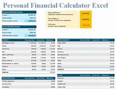 Excel Financial Calculator Personal Financial Calculator Excel Download