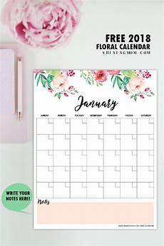 Free Printable Monthly Planner Free Printable 2018 Monthly Calendar And Planner